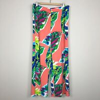Chico's Tropical Print Wide Leg Palazzo Pull-On Pants Women's Size 3 Reg. XL