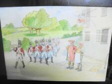 Very Rare Victor VENNER (1869-1913) Watercolour Painting of Soldiers c1900