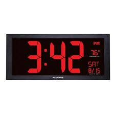Acurite 18-inch Large Digital Calendar Clock with Indoor Temperature Wall Time