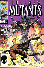 The New Mutants Comic Book #44, Marvel Comics1986 VERY FINE/NEAR MINT  UNREAD