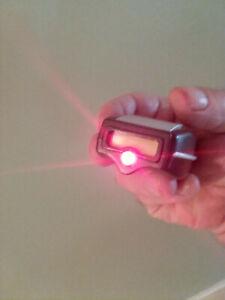 Star Trek type I hand phaser w/ LED emitter tip & phaser sound FX