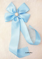 Large Handmade Girl Kid Lady Ribbon Ponytail Bow Clip Barrettes Hair Accessories
