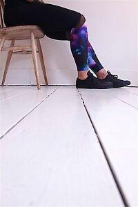give me space leggings galaxy space print pink purple activewear gym lycra black
