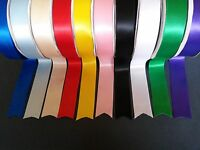 1m 5m 10m 20m - 75mm/3 inch Single Sided Ribbon - White Black Red Pink Blue