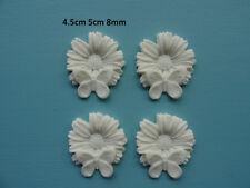 Farfalla decorativa in Fiore x 4 mobili stampaggio resina Onlay 034 A