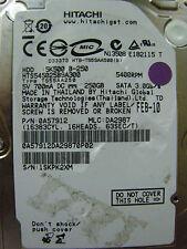 250 GB Hitachi HTS545025B9A300 / PN: 0A57912 / DA2987 / FEB-10 / 0A58732 DA2739C