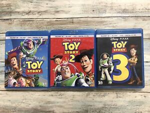Toy Story 1 2 3 Trilogy Blu-ray 3D, Blu-ray, DVD Collection Fast Free Shipping!!