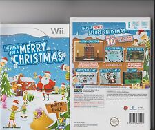 WE WISH YOU A MERRY CHRISTMAS NINTENDO WII OVER 10 MINI GAMES