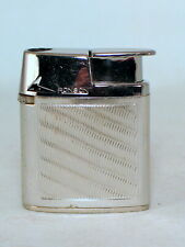 Ronson Varaflame MK II butane lighter in chromium with diagonal lines
