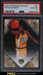 2007 SP Rookie Edition Kevin Durant ROOKIE RC #61 PSA 10 GEM MINT