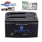 "USB 3.0 to Dual SATA Hard Drive HDD Docking Station 6Gbps 2.5""/3.5"""