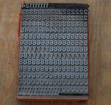 Zahlensatz Bleischrift Zahlen Zahl Letter Stempel Stoffdruck Bleialphabet Ziffer