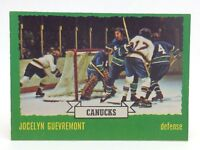 1973 74 OPC O Pee Chee Jocelyn Guevremont 143 Vancouver Canucks Hockey Card E668