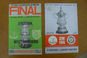 1968 EVERTON V WEST BROM FA CUP FINAL PROGRAMME + SEMI