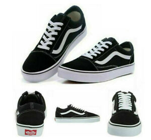 All Size VAN Old Skool Skater Shoes Men&Women Hi Low Top Trainer Canvas Sneakers