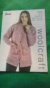 knitting pattern for  ladies chunky cardigan size 32 to 48