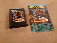 Star Trek by Sega for ATARI 2600 ▪︎ CARTRIDGE and MANUAL ▪︎ FREE SHIPPING ▪︎