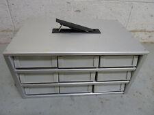 9 Drawer Industrial Aluminum Locking Organizer w/Keys