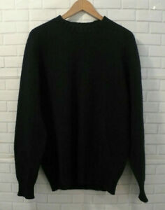 Alan Paine England Navy Men's 100% Shetland Wool Pullover Sweater Sz 40
