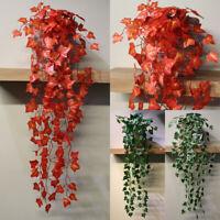 Plant Garland Ivy Plastic Green Home Foliage Flower Leaf Wedding Party Decor US