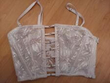 Victorias Secret Bustier Lace White Cream S NWT