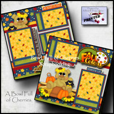 Fall Colors ~ autumn 2 premade pages paper piecing layout prints By Cherry #0023