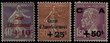 Francia - 1928 - Cassa d'Ammortamento - nn.249/251 - nuovi - MH