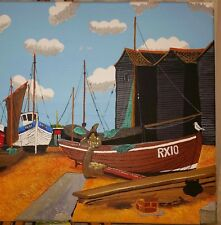 THE NET HUTS HASTING OLD TOWN 3 OPEN EDITION PRINT BY MICHAEL PRESTON