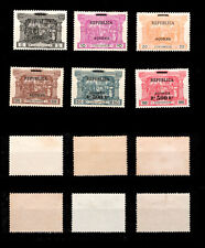 1911 Portugal Azores PD Surcharged. Complete Mint WITHOUT GUM Set. Af#143/8.