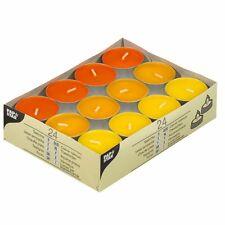 """192 Teelichte Ø 38 mm 16 mm """"gelb orange borneo"""" Party Teelichter 15235"""