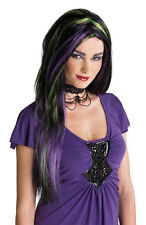 Rebel Witch Wig Blk/Pur/Green