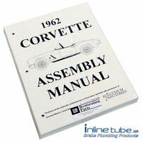 1962 Chevrolet Corvette  Factory Assembly Rebuild Instruction Manual Book