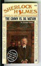 THE CROWN VS DR. WATSON by Lientz, rare US Berkley crime game pulp vintage pb