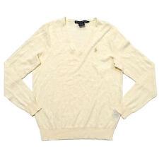 Polo Ralph Lauren Womens Sweater Pullover V Neck Sweatshirt Prl Linen Cotton New
