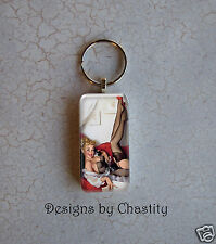 Pinup Scrabble Keychain Blonde Red Sexy Girl Charms - Phone Teller Domino Art