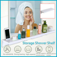 Bathroom Kitchen Shelf Storage Rack Organize Tray Holder Wall Mounted SuctionCup