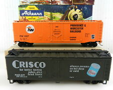 Athearn HO 113 50' PD Boxcar P&W+5204 Scribed 40' Steel Wood Reefer Crisco T101