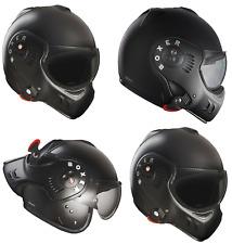 Techo Boxer V8 Full Face Motocicleta Moto Casco Negro Mate Anti-Niebla Visor