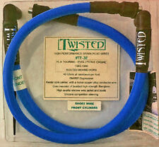 TWISTED 12mm BLUE SPARK PLUG WIRES HARLEY ELECTRA GLIDE ROAD KING TOUR 85-98
