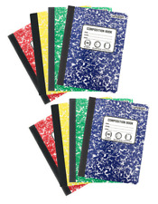 Composition Books Notebooks (8 pack) Wide Ruled - 160 pages, 80 Sheets Each