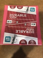 Lot of 2 Pen+ Gear Durable View 1'' 3 Ring Binder Pink 220 Sheet Capacity