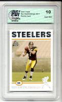 Ben Roethlisbeger 2004 Topps #7 Steelers Rookie Card PGI 10
