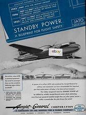 ETHIOPIAN AIRLINES 1954 CONVAIR 240 AEROJET GENERAL JATO STANDBY POWER AD
