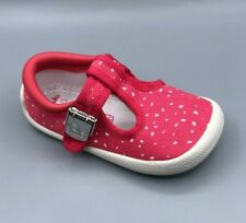 "NEW Clarks Doodles ""Choc Cake"" Girls Pink Canvas Shoes UK 4.5 G"