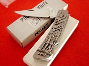 "United Cutlery 3-1/4"" Christopher Columbus Locking Blade Knife MIB"
