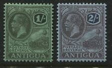 Antigua KGV 1921 wmk Multiple Crown & CA 1/ and 2/ mint o.g.