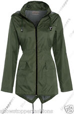 NEW RAIN MAC Ladies PARKA Womens FISHTAIL Festival RAINCOAT Size 8 10 12 14 16