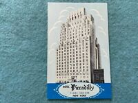 Hotel Piccadilly, Times Square, New York Vintage Postcard