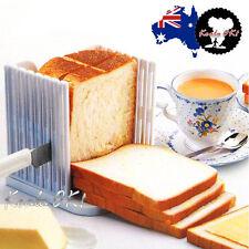Bread Toast Sandwich Slicer Cutter Mold Maker Kitchen Guide Slicing Tools OK!