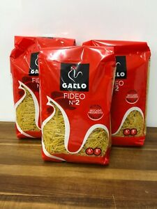 Spanish Gallo Fideo No2 , Dried Noodles For Soup 3 Bags 3 X 500g , Tapas , Pasta